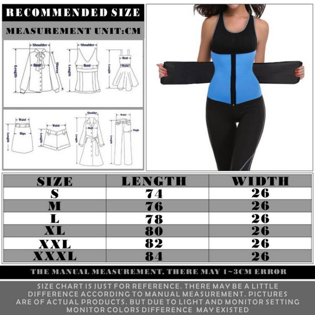 Men Women Waist Trainer Vest Gym Slimming Adjustable Sauna Sweat Belt Body Shaper Women's Body Shaper High Waist Trainer Cincher 2