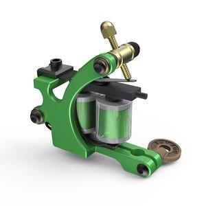 Image 5 - Profesjonalne cięcie drutu ręcznie ze stali węglowej Wrap cewki maszynka do tatuażu dla liniowej i cieniowania zielony kolor żelazne materiały do tatuażu
