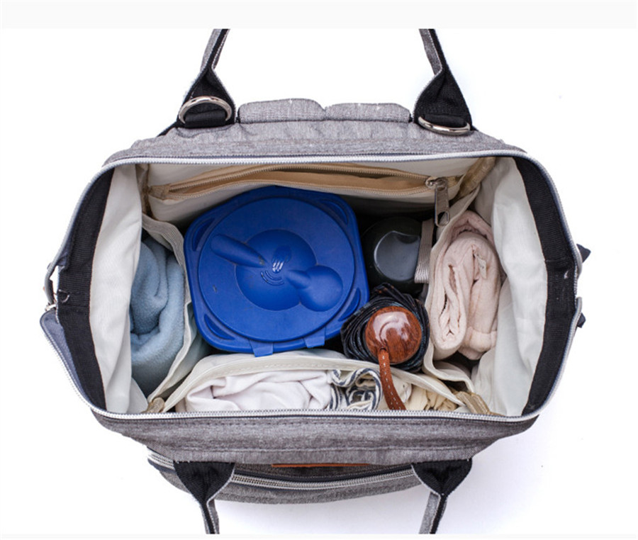 He5071e7b24304b2896ed6cfafb3a99a4T LEQUEEN Diaper Bag Pure Color Men's Mummy Baby Care Nappy Bag 44CM Large Capacity Waterproof Business Backpack Travel Bag