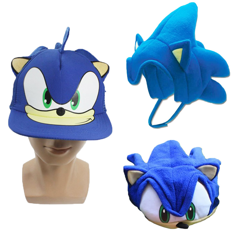 1pc Anime Sonic Hedgehog Hair Cosplay Hat Headgear Fleece Cosplay Cap Anime Plush Hat Costumes For Children Boys Girls Cute Hats Movies Tv Aliexpress