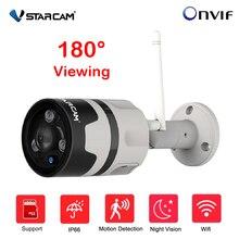 Vstarcam C63S Outdoor Panoramisch Cctv Camera Wifi 1080P 180 Graden Groothoek Bullet Waterdichte Fisheye Security Camera Onvif P2P