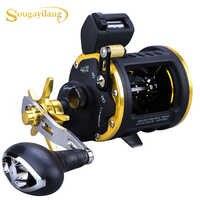 Sougayilang nouveau produit 6 + 1bb haute forte moulinet de pêche à la traîne mer d'eau salée Pesca appât coulée moulinets de pêche moulinet de pêche à la traîne