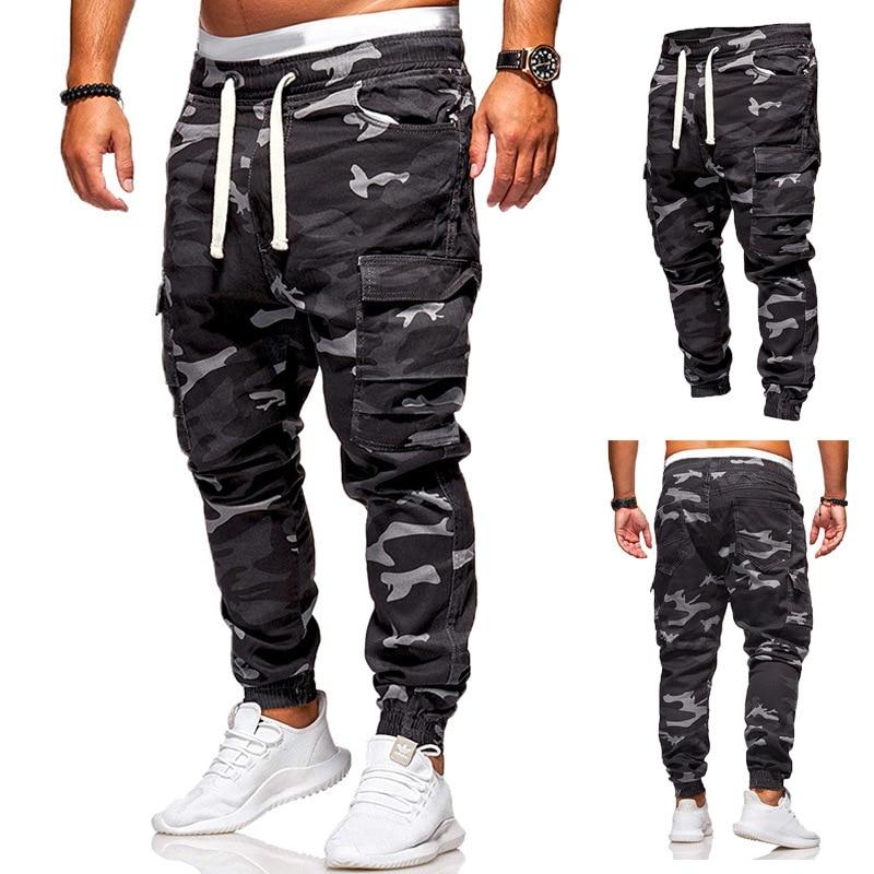 Large Size Girdle Leg Overalls European Size Pant New Autumn Spring Men's Camouflage Casual Pants Elastic-waist Outdoor Pants