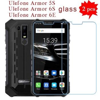 Перейти на Алиэкспресс и купить 2 шт. для Ulefone Armor 6 S закаленное стекло Защита для экрана Защита от царапин ЖК-пленка для Ulefone Armor 6 S стеклянная крышка для телефона 6,2дюйм