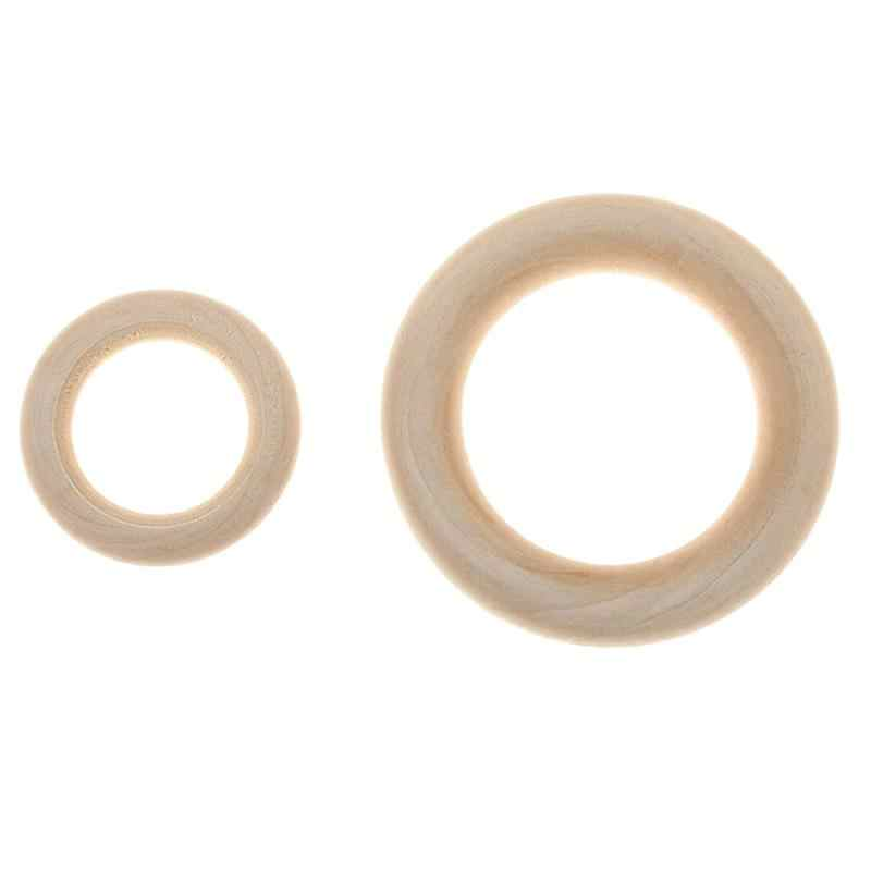 20 шт. кольцо-Петля из натурального дерева для рукоделия, многофункциональное 3,5 см деревянное кольцо для прорезывания зубов, бусины для изготовления ювелирных изделий A3