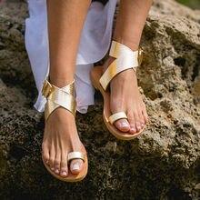 Frau gladiator flip-flops strand sandalen damen sommer schuhe flache sandalen für frauen casual schuhe frauen gold silber 41 42 43