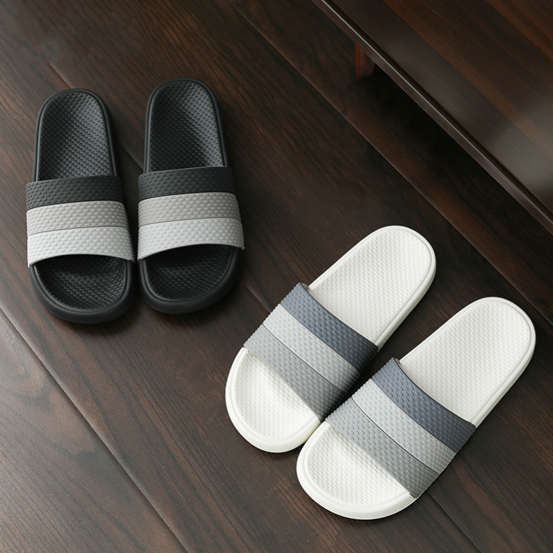 Women Summer Home Indoor Slippers Mix Color Non Slip Thick Soft Sole Bathroom Shower 2020 Smiple Slides Men Ladies Shoes House