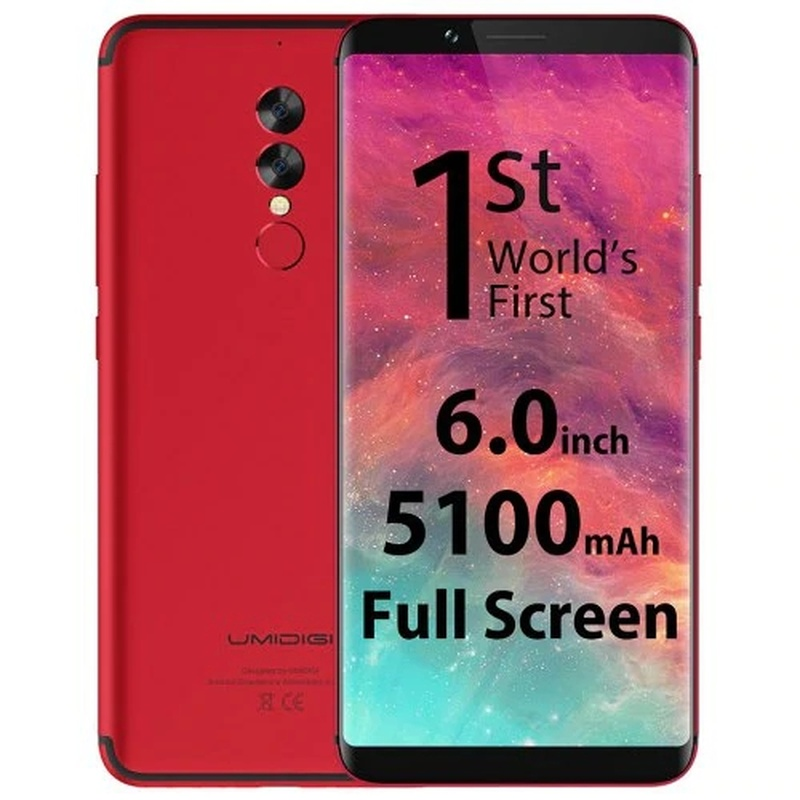 Umidigi S2 4G Phablet Android 6.0 6.0 Inch Helio P20 Octa Core 2.3Ghz 4Gb Ram 64Gb rom 13.0MP + 5.0MP Dual Achter Camera Type-C