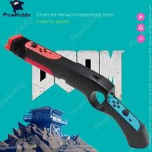 POWKIDDY For N-Switch Games Peripherals Induction Shooting Gun Grip Joy Controller Joystick Bracket Shooting Game Accessories