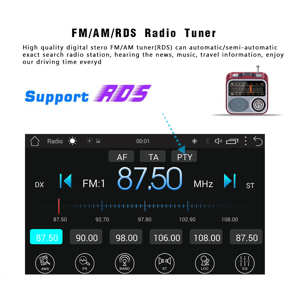 Podofo 2 Din Android Car Radio Stereo GPS Navigation Bluetooth USB 7 39 39 Touch 2 din Universal Multimedia Audio Player Auto Radio in Car Radios from Automobiles amp Motorcycles