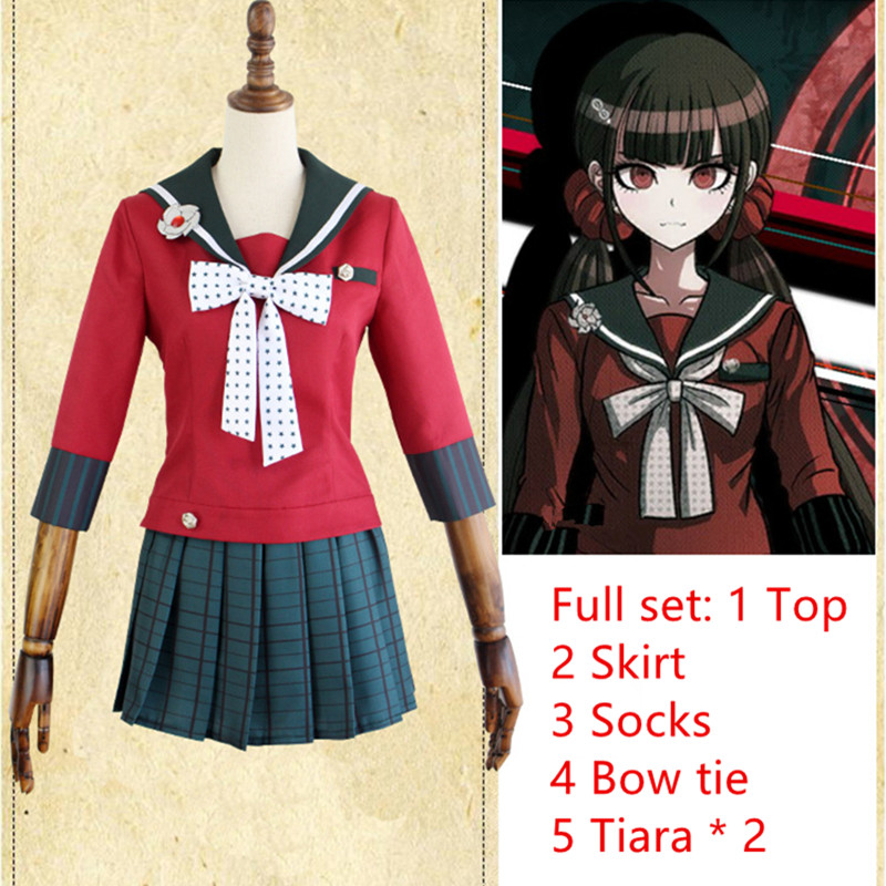 Danganronpa V3: Killing Harmony Harukawa Maki Sailor Suit School Uniform Tops Skirt Outfit Anime Cosplay Costumes Female school