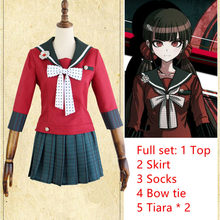 Danganronpa V3: Killing Harmony Harukawa Maki Sailor Suit School Uniform Tops Skirt Outfit Anime Cosplay Costumes Female school(China)