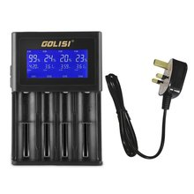 GOLISI 4 Slots 2A Smart LCD Battery Charger Charging for Li-ion 18650 26650 AA & AAA Ni-MH Ni-cd Rechargeable Batteries Hot Sale газонокосилка бензиновая mtd smart 42 po