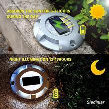 Солнечная настенная лампа подъездная док светодиодный свет Открытый водонепроницаемый дорожный маркеры для шаг тротуара лестницы сада наземный путь двора