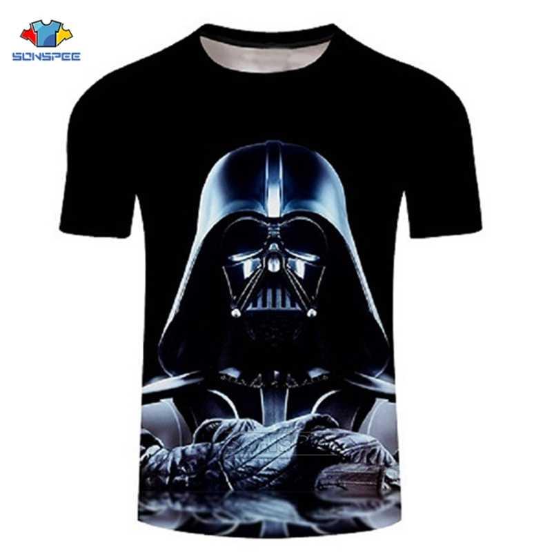 Uomini Darth Vader Heavy Metal 3d Design di Stampa Divertente T Camicette Manica Corta Magliette Brawling Moda Star Wars T-camicette Hiphop Magliette E Camicette G21