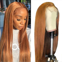 Lace Front Wigs with Baby Hair Silk Straight Honey Blonde Human Hair 13x4 Lace Wig Pre Plucked Glueless Wig For Women