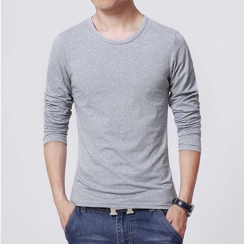 2019 MRMT Мужская футболка с круглым вырезом 3 основных цвета с длинным рукавом Тонкая футболка мужская однотонная мужские футболки для мужчин Бесплатная доставка
