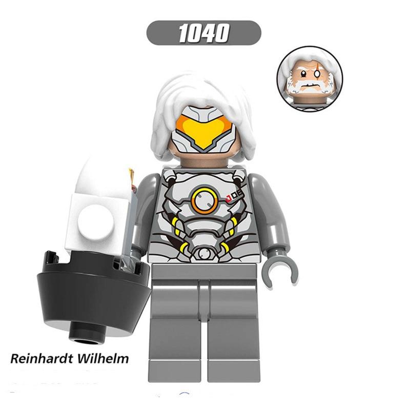 Single Sale LegoINGlys Blocks Famous Movie Figure D.VA REINHARDT WILHELM JESSE MCCREE REAPER Bricks Action Toys Children Gifts