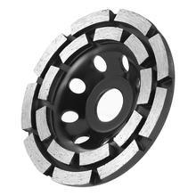 Diamant Segment Schleifen Cup Rad Disc Zweireihig Stein Ziegel Design von Doppel Sandstrahlen Rand Winkel Grinder Fliesen Grinder