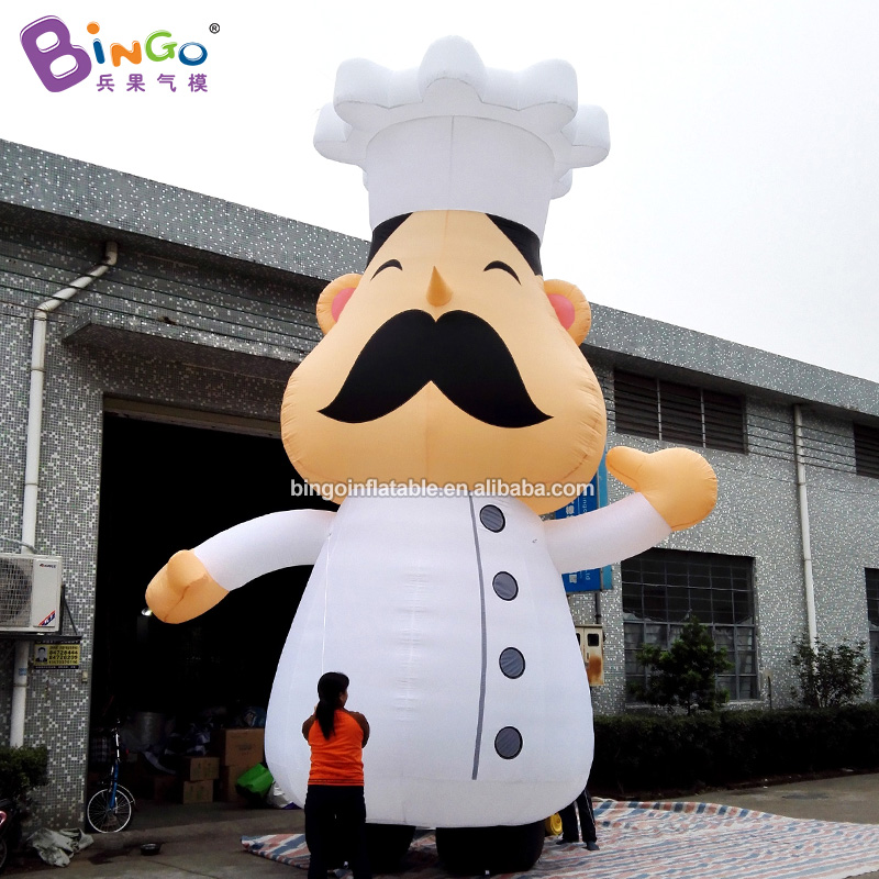 6m High Air-Blown Chef/Chief Cook Cartoon Balloon Inflatable Career Character Series Model