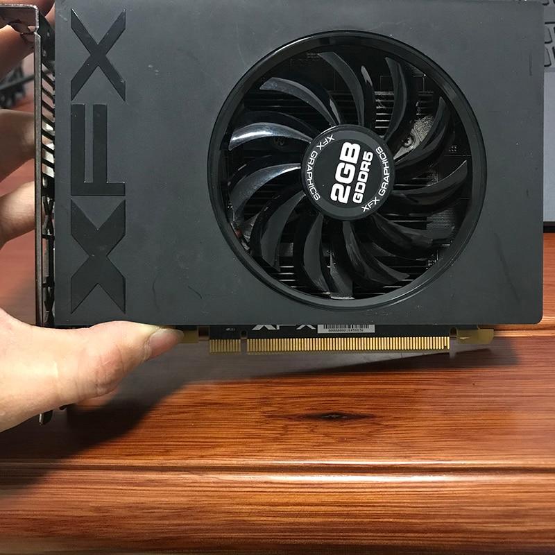 Б/у видеокарты XFX Radeon R7 240A 2 Гб GPU для AMD Radeon R7240A GDDR5 128bit графический экран карты для настольного компьютера-4