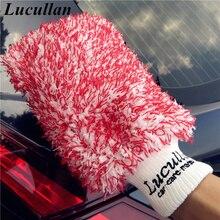 Lucullan guantes de microfibra para coche, dos cubos, 3 colores, tamaño grande, especial personalizado, para lavadores de automóviles