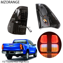 Smoked Car LED Rear Tail Lights Brake Lamps For Toyota Hilux Vigo Revo 2016 2017 2018 Light ABS 32x38cm Easy to Install