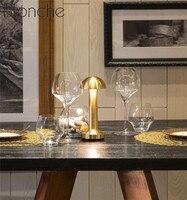 현대 바 테이블 램프 휴대용 터치 데스크 라이트 레스토랑 침실 충전식 램프 야간 조명기구 아트 홈 장식