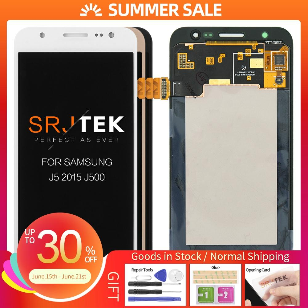 5'' <font><b>AMOLED</b></font> LCD for SAMSUNG Galaxy J5 2015 <font><b>J500</b></font> LCD Display J500H J500FN J500F J500M SM-J500F Touch Screen Digitizer image
