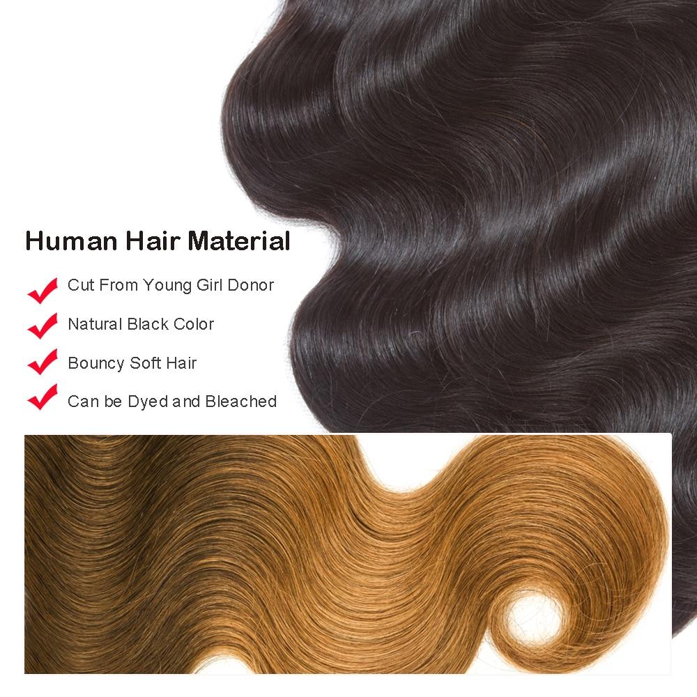 BEAUDIVA Brazilian Hair Bundles With Closure Body Wave Bundles With Closure Human Hair Extension 3 Bundles With Lace Closure
