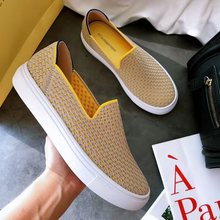 2020 Womens Loafers flat Shoes Zapatos De Mujer Autumn  Round  Ballerine Femme Tenis Feminino Casual Black Ladies weaving