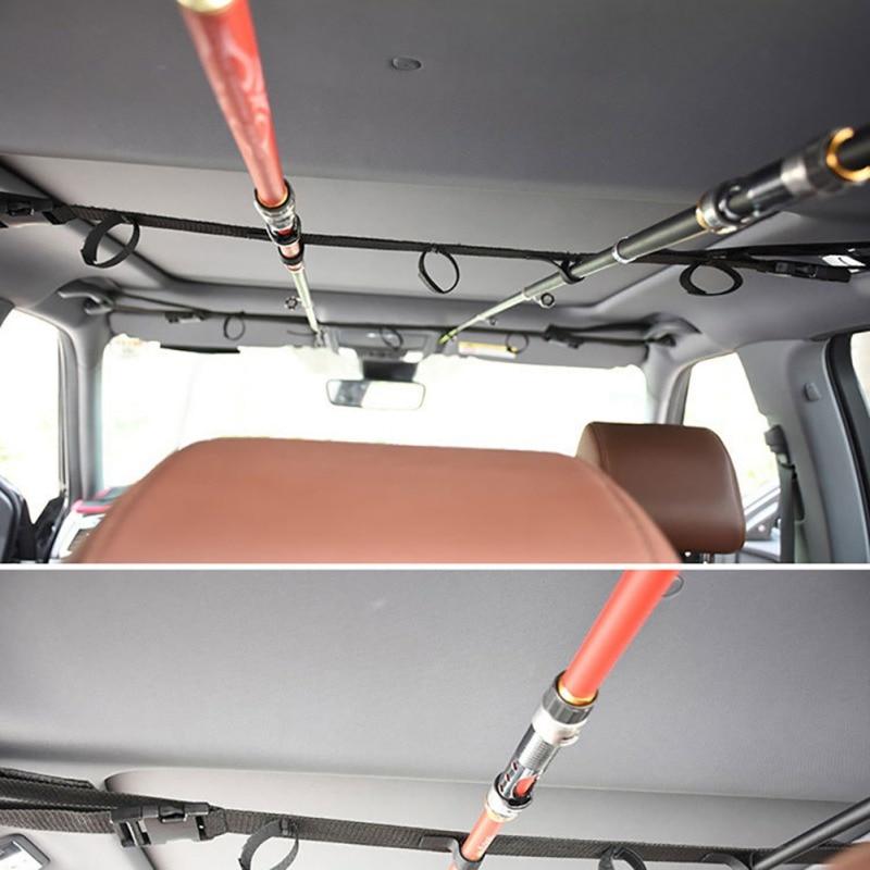 Pratical 1 Pair Fishing Rod Saver Vehicle Rod Carrier Band Rod Holder Belt Strap