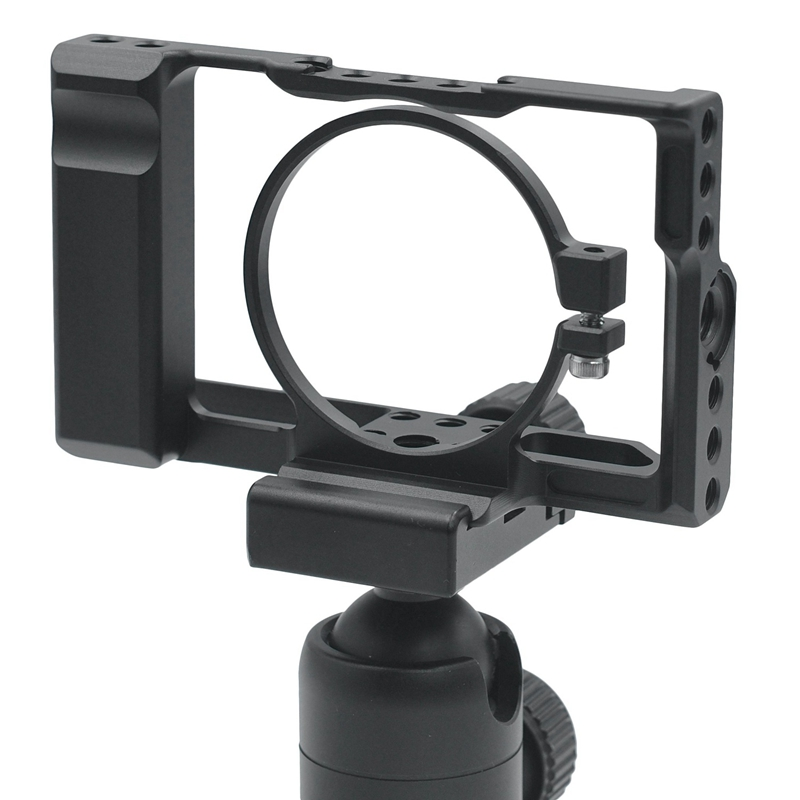 DSLR Camera Cage with Arri Locating Hole 4/1 8/3 Threads Hole for SONY <font><b>RX100</b></font> VI <font><b>RX100</b></font>-M6 image