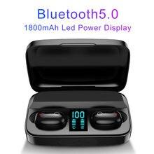 Kopfhörer Bluetooth 5,0 Wahre Wireless A10S TWS Headsets Led-anzeige 1800mAh Power Bank Kopfhörer Hifi Stereo Sport Earbuds pk i12