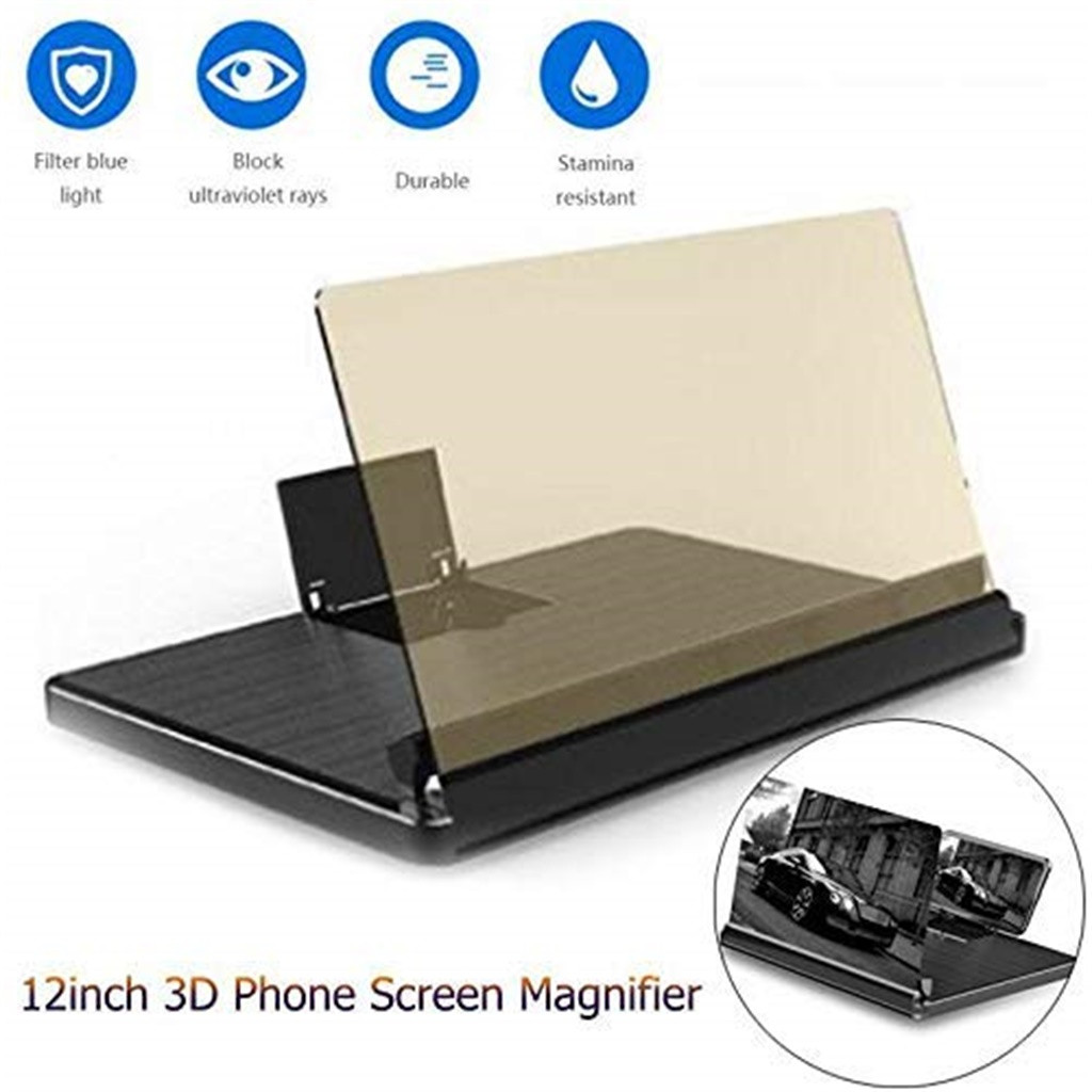 #20 Movie Video Phone 12 Inch 3D Screen Magnifier Amplifier HD Expander Stand Holder Smart Phone Movie Adjustable Flexible