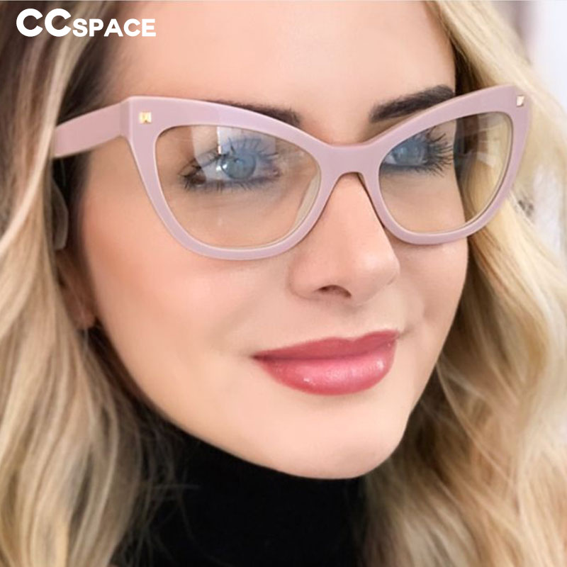 48053 Plastic Titanium Glasses Frames Big Cat Eye Ultralight Men Women Optical Fashion Computer Glasses