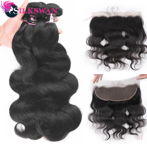 deep wave bundles with closure human hair extension 30 40 inch brazilian natural remy weave 3 4 bundles for black women hd lace(China)