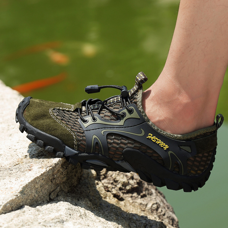 Lace Up Hiking Shoes Summer Men Shoes Sneakers Quick-Dry Outdoor Climbing Trekking Anti-Skidding sport shoes men Magnum Boots