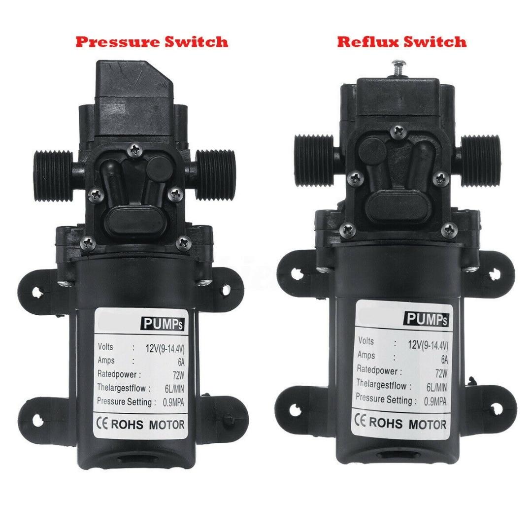 High Pressure Car Washing Spray Water Pump 6L/min Pressure Switch/Reflux Switch DC 12V 72W Electrical Pump 7kg