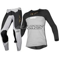 Black Grey Delicate Fox Motocross Racing 2019 Flexair Royl Jersey Pant MX Bike Off road Suit Motorbike Kit