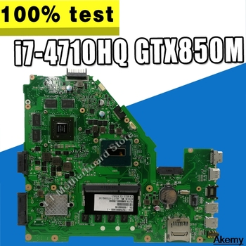 X550JK placa madre para For Asus fortaleza voladora FX50J X550JD X550JF X550JX X550JK placa base de computadora portátil con i7-4710HQ/4720HQ CPU GTX850M
