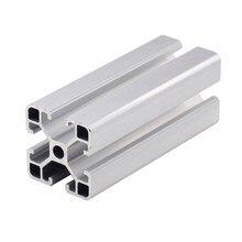 1PC 4040 de perfil de aluminio de extrusión de 100-800MM de longitud estándar europeo riel guía anodizado para DIY CNC 3D de banco de trabajo