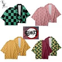 Demon Slayer Kimetsu no Yaiba 3D печать японского Аниме кимоно Haori Yukata Косплей женщин/мужчин лето Повседневная крутая уличная одежда