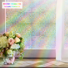wxshsh rainbow decorative window film tinted static self adhesive cling glass stickers 3D Mosaic privacy windows foil htv vinyl