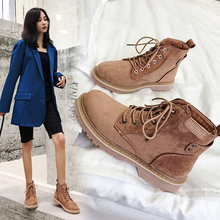Hot Ankle Boots For Women Martin Faux Suede Shoes Autumn Winter Booties Size 35-40