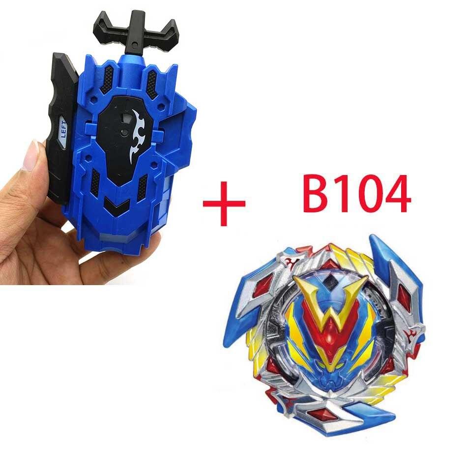Волчок Beyblade BURST B-130 B-117 с пусковым устройством Bayblade Bay blade металл пластик Fusion 4D Подарочные игрушки для детей - Цвет: B104