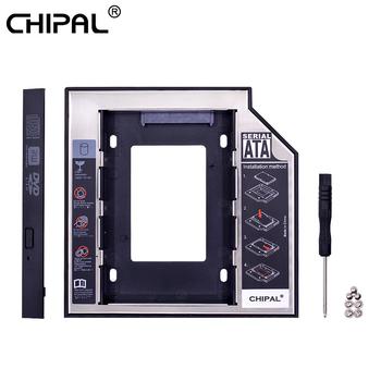CHIPAL 2nd HDD Caddy 12 7mm 9 5mm SATA 3 0 2 5 #8221 HD obudowa płyty dysku twardego obudowa na SSD Box na laptopa CD-ROM DVD-ROM wnęka na napęd optyczny tanie i dobre opinie CN (pochodzenie) 2 5 Aluminium Ue wtyczka Us wtyczka Au plug Wtyczka uk Caddy 9 5MM Esata Mini SATA Plastic + Aluminum