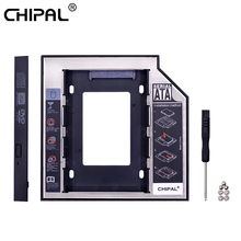 CHIPAL 2nd HDD Caddy 12 7mm 9 5mm SATA 3 0 2 5 #8221 HD obudowa płyty dysku twardego obudowa na SSD Box na laptopa CD-ROM DVD-ROM wnęka na napęd optyczny tanie tanio CN (pochodzenie) 2 5 Aluminium Ue wtyczka Us wtyczka Au plug Wtyczka uk Caddy 9 5MM Esata Mini SATA Plastic + Aluminum