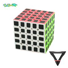 Carbon Fiber Cube Magic Cube Speed 5x5x5 Puzzle Neo Cubo Magico Professional 5*5*5 cube with stand For Children Adult Toys gifts цена 2017
