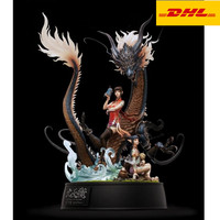 20 Nine Days Scale Statue Eastern Palace Bust Green Dragon Full Length Portrait Holiday Gift GK Action Figure Toy BOX 50CM V364